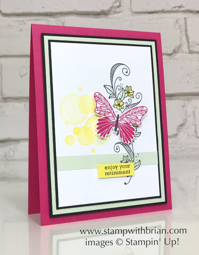 Beauty Abounds, Butterfly Gala, Itty Bitty Greetings, Stampin' Up!, Brian King, retirement card