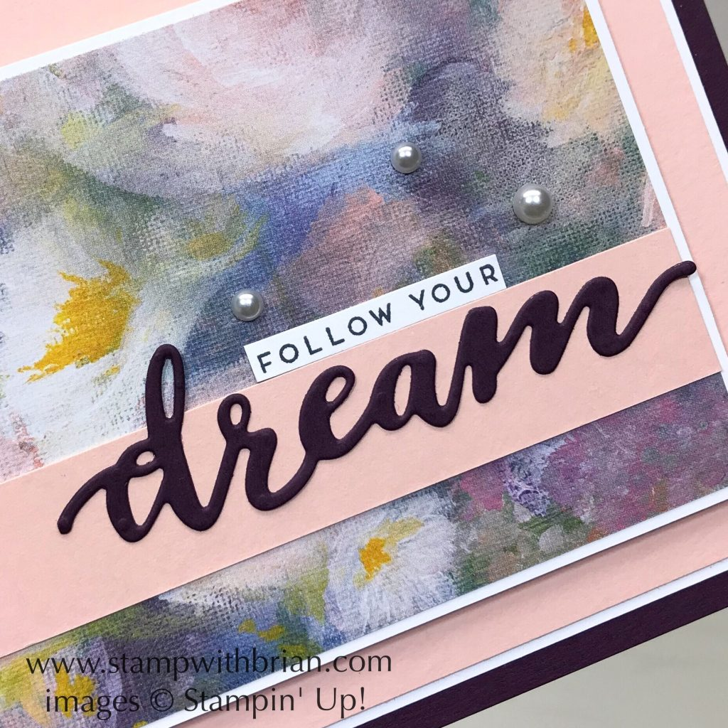 Follow Your Dreams Bundle, Perennial Essence Designer Series Paper, Stampin' Up!, Brian King, graduation card