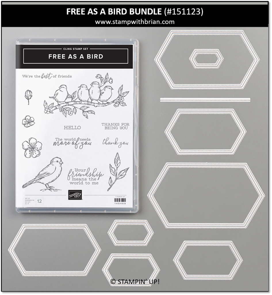 Free as a Bird Bundle, Stampin' Up! 151123