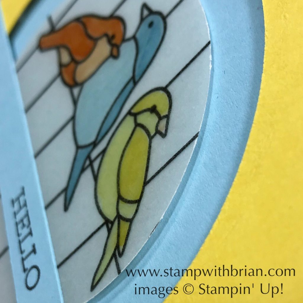 Free as a Bird, Graceful Glass Vellum, Stampin' Up!, Brian King