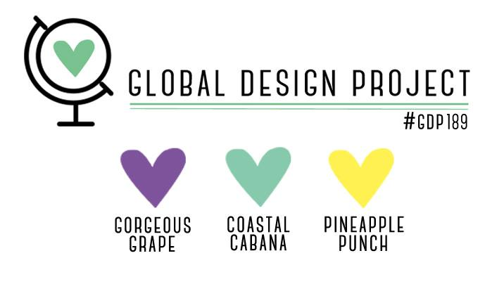 Stampin' Up! Color Inspiration - Gorgeous Grape, Coastal Cabana, Pineapple Punch