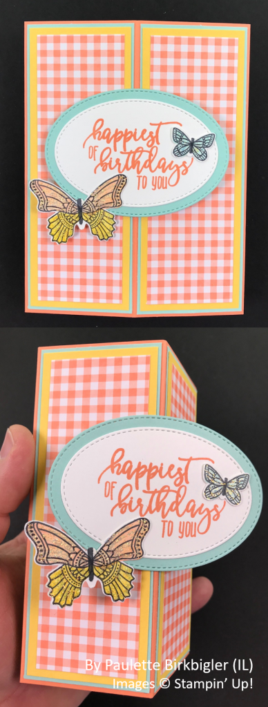 Spring One-for-One Card Swap, Stampin' Up!, by Paulette Birkbigler
