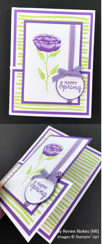 Spring One-for-One Card Swap, Stampin' Up!, by Renee Nokes