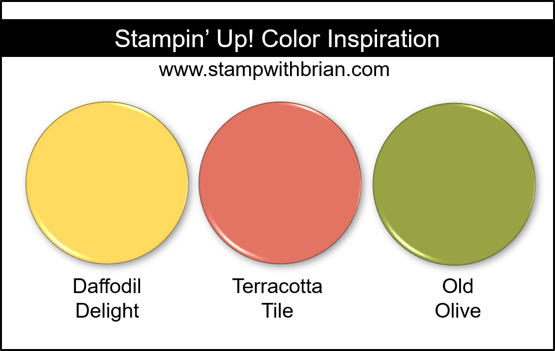 Stampin' Up! Color Inspiration - Daffodil Delight, Terracotta Tile, Old Olive