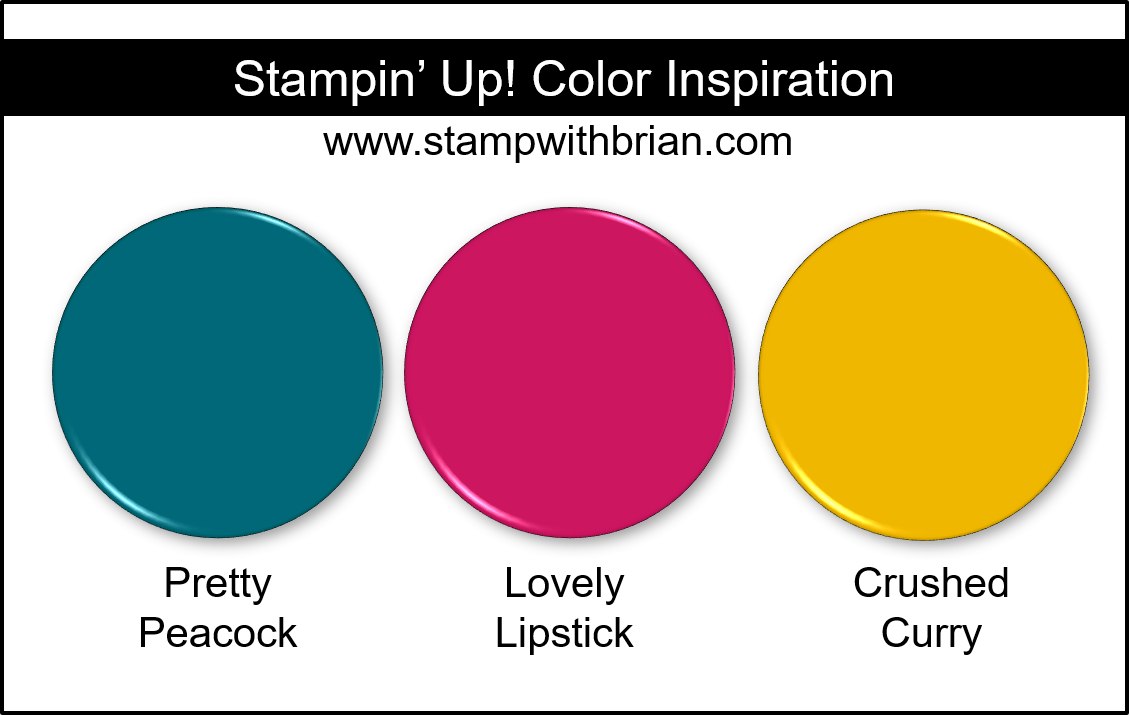 Stampin' Up! Color Inspiration - Pretty Peacock, Lovely Lipstick, Crushed Curry