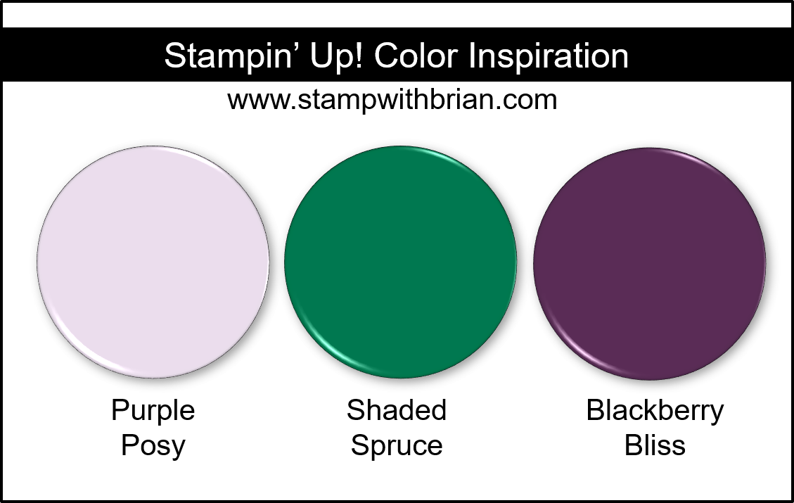 Stampin' Up! Color Inspiration - Purple Posy, Shaded Spruce, Blackberry Bliss