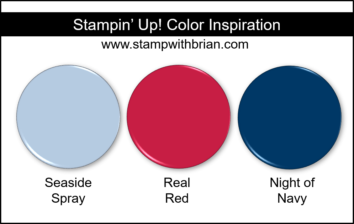 Stampin' Up! Color Inspiration - Seaside Spray, Real Red, Night of Navy