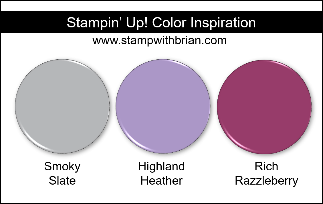 Stampin' Up! Color Inspiration - Smoky Slate, Highland Heather, Rich Razzleberry