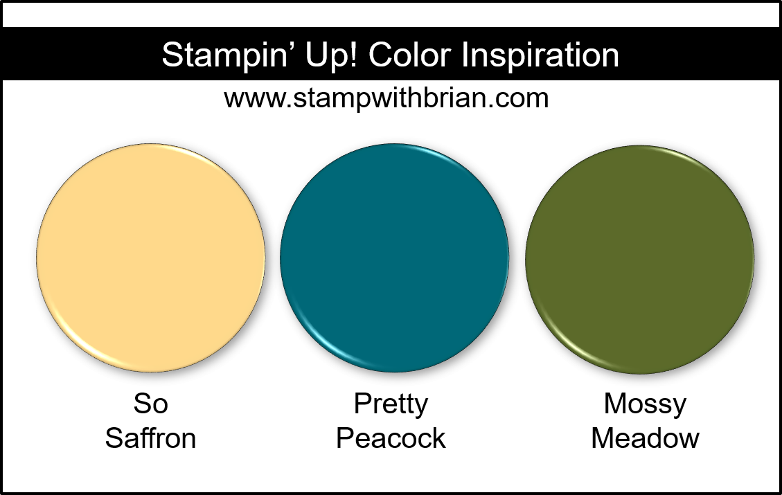 Stampin' Up! Color Inspiration - So Saffron, Pretty Peacock, Mossy Meadow