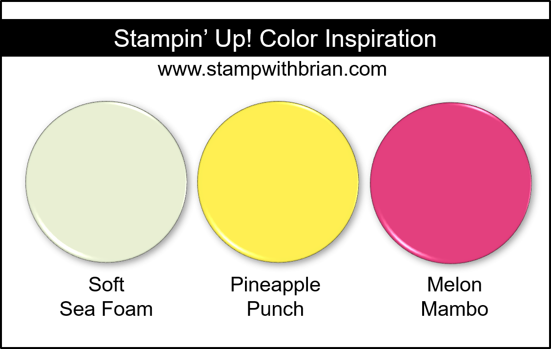 Stampin' Up! Color Inspiration - Soft Sea Foam, Pineapple Punch, Melon Mambo