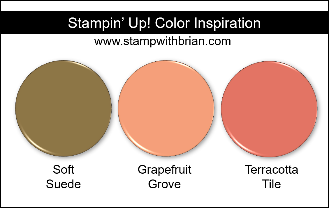 Stampin' Up! Color Inspiration - Soft Suede, Grapefruit Grove, Terracotta Tile