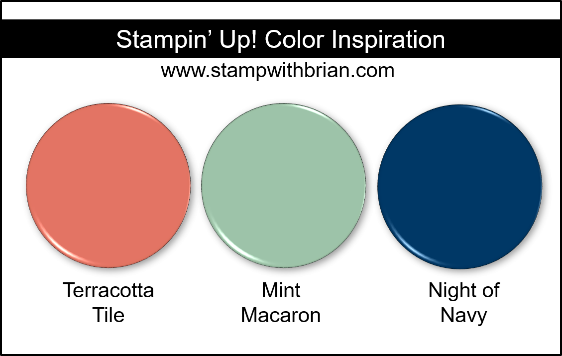 Stampin' Up! Color Inspiration - Terracotta Tile, Mint Macaron, Night of Navy