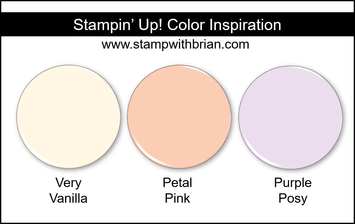 Stampin' Up! Color Inspiration - Very Vanilla, Petal Pink, Purple Posy