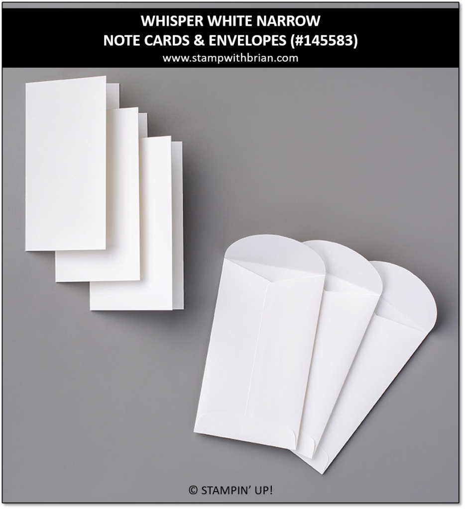 Whisper White Narrow Note Cards & Envelopes, Stampin' Up!, 145583