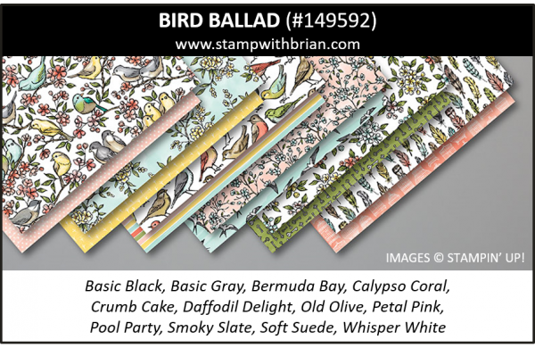 Bird Ballad Designer Series Paper, Stampin' Up! 2019 Annual Catalog, 149592