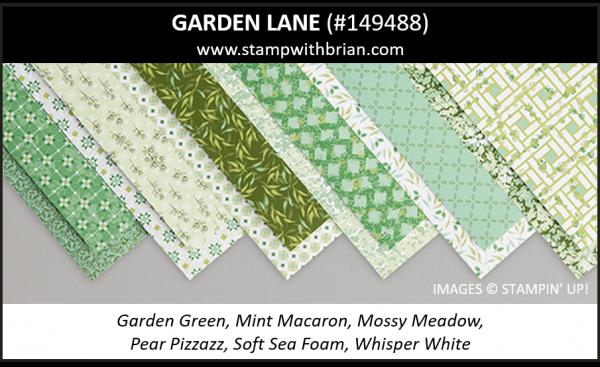Garden Lane Designer Series Paper, Stampin' Up! 2019 Annual Catalog, 149488