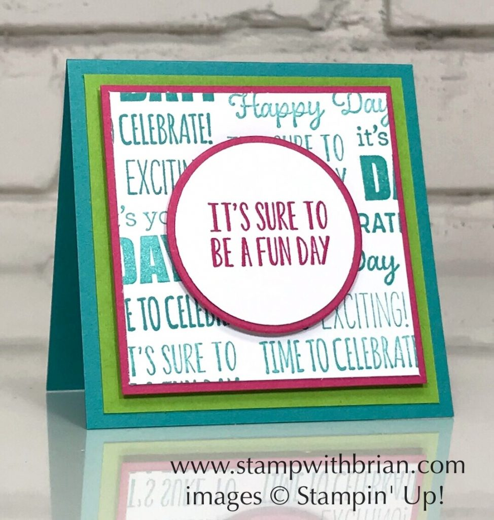 Itty Bity Birthdays, Stampin' Up!, Brian King