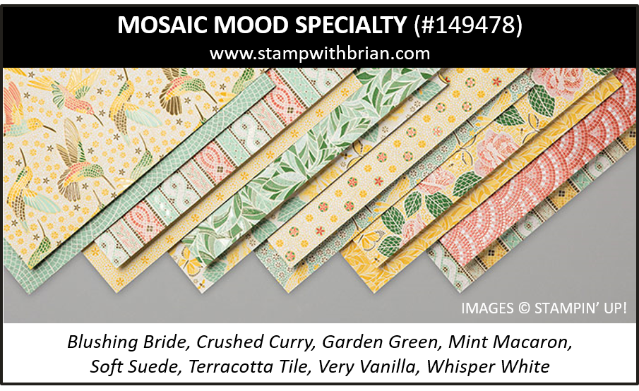 Mosaic Mood Specialty Designer Series Paper, Stampin' Up! 2019 Annual Catalog, 149478
