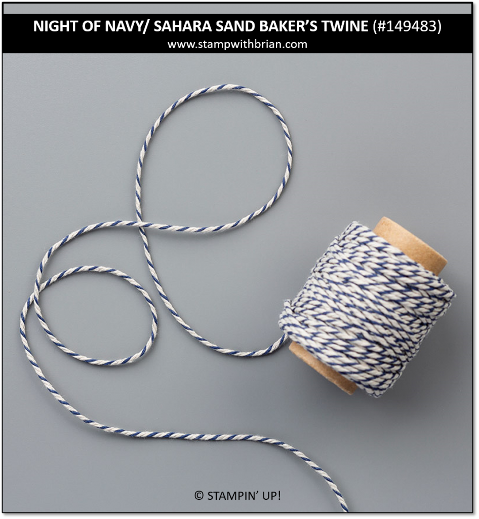 Night of Navy and Sahara Sand Baker's Twine, Stampin' UP!, 19483
