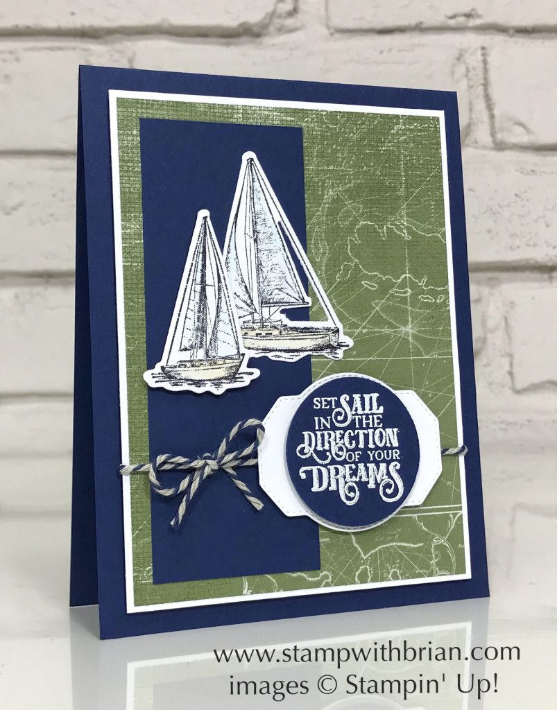 Sailing Home Bundle, Come Sail Away Designer Series Paper, Stampin' Up!, Brian King