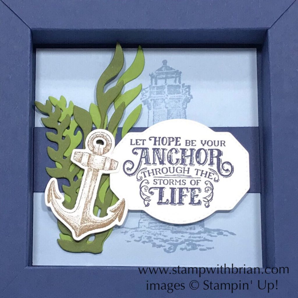 Sailing Home Shadow Box, Stampin' Up!, Brian King