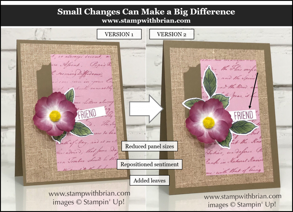 Small Changes Can Make a Difference, Pressed Petals, Stampin' Up!, Brian King
