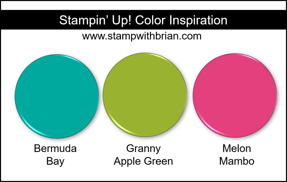 Stampin' Up! Color Inspiration - Bermuda Bay, Granny Apple Green, Melon Mambo
