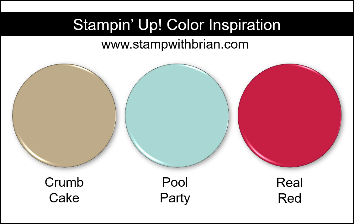 Stampin' Up! Color Inspiration - Crumb Cake, Pool Party, Real Red