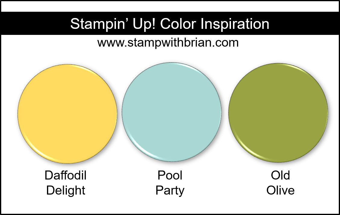 Stampin' Up! Color Inspiration - Daffodil Delight, Pool Party, Old Olive