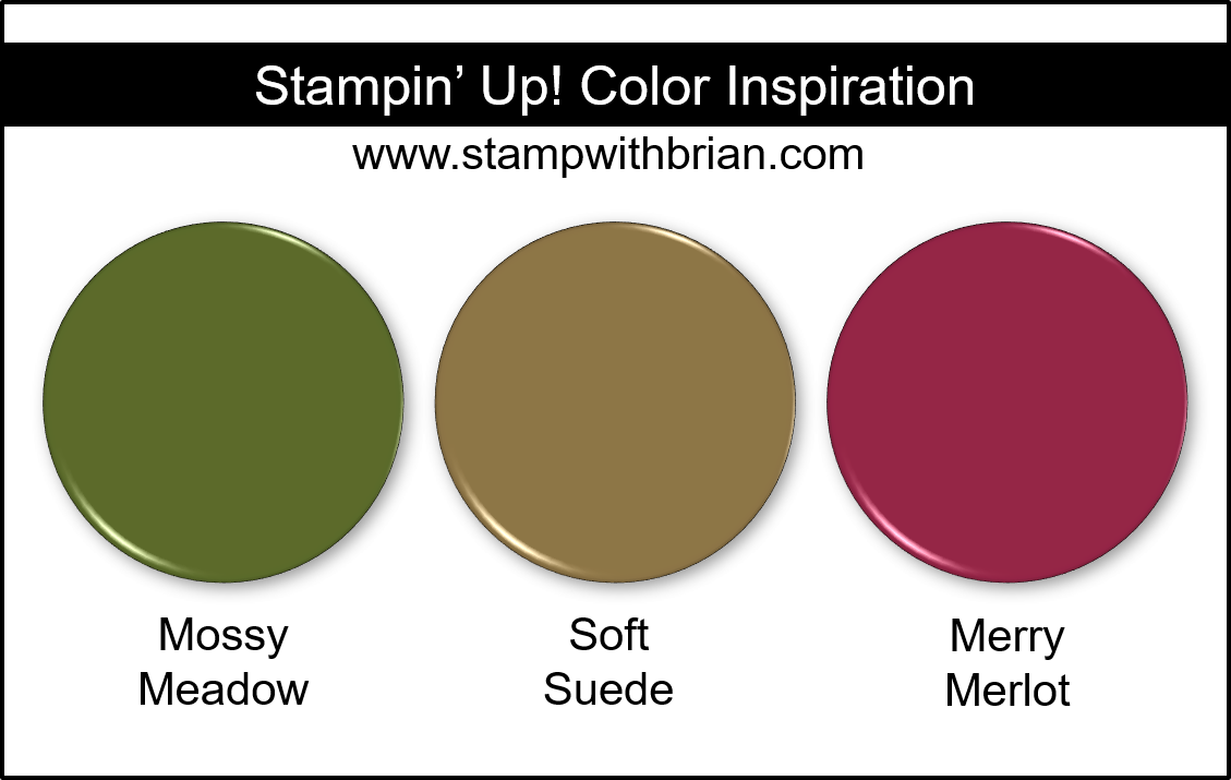 Stampin' Up! Color Inspiration - Mossy Meadow, Soft Suede, Merry Merlot