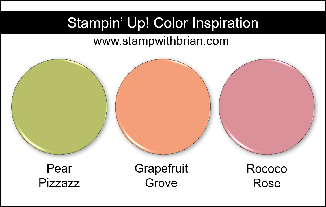 Stampin' Up! Color Inspiration - Pear Pizzazz, Grapefruit Grove, Rococo Rose