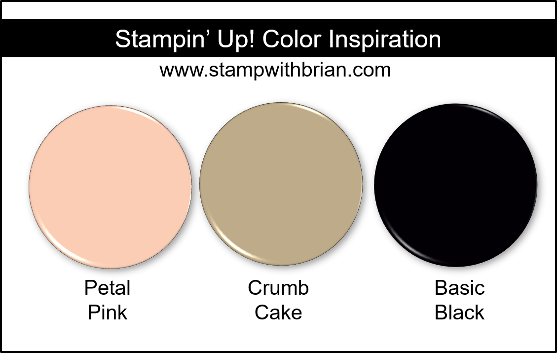 Stampin' Up! Color Inspiration - Petal Pink, Crumb Cake, Basic Black