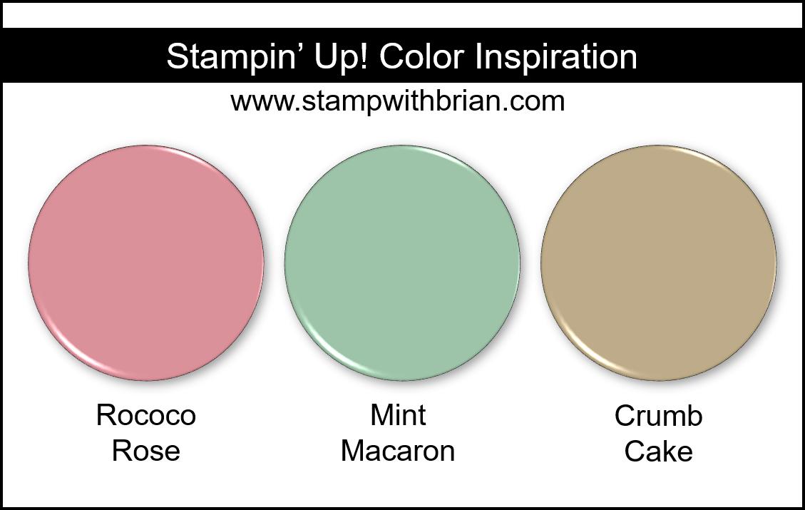 Rococo Rose, Mint Macaron, Crumb Cake