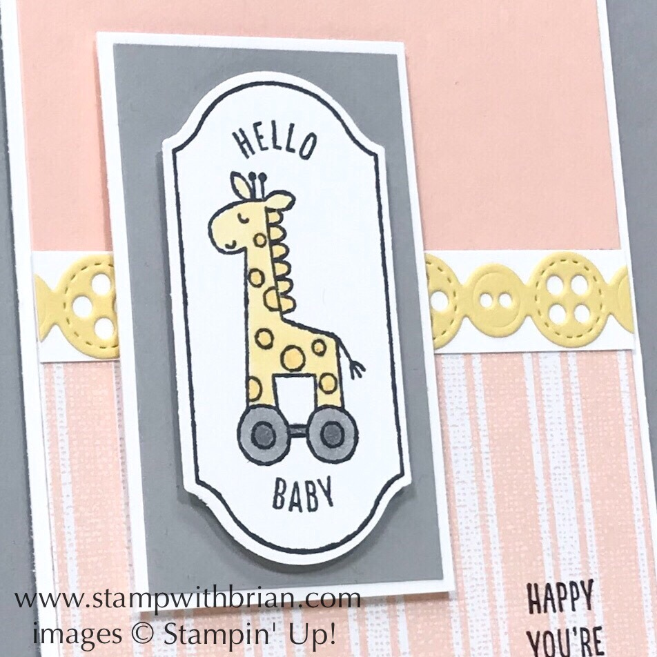 Time for Tags, Stampin' Up!, Brian King, baby card