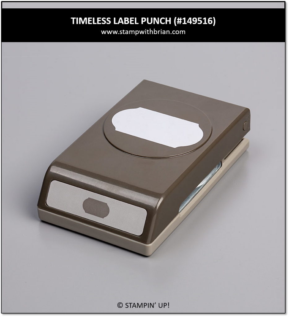 Timeless Label Punch, Stampin' Up! 149516