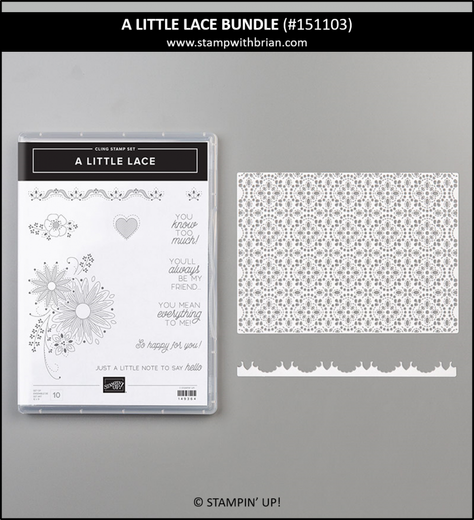 A Little Lace Bunde, Stampin' Up! 151103