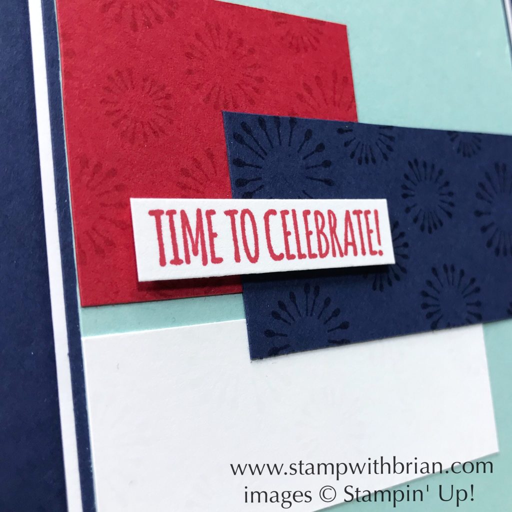 Birthday Backgrounds, Itty Bitty Birthdays, Stampin' Up!, Brian King, Patriotic card, July 4
