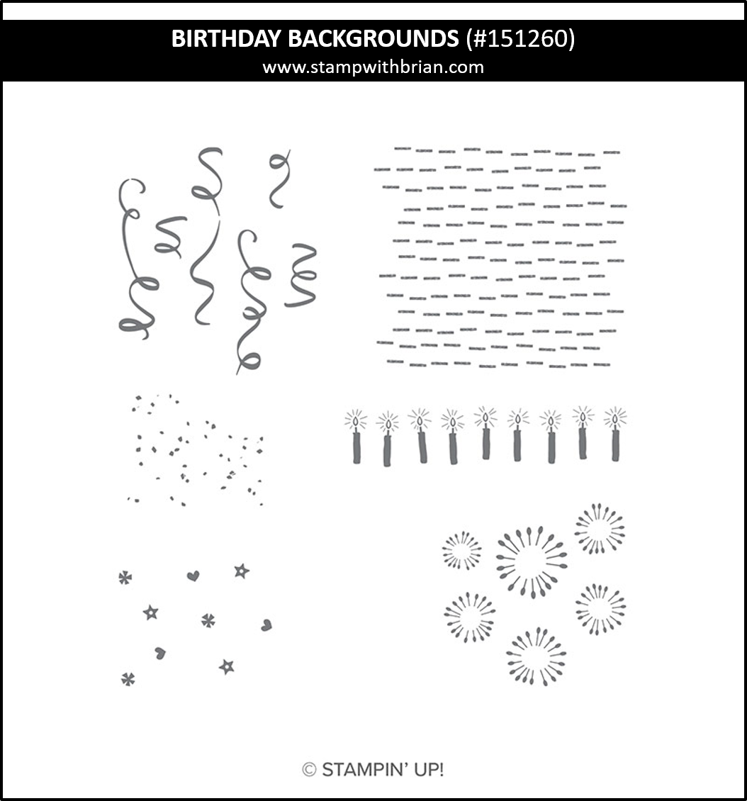 Birthday Backgrounds, Stampin' Up!, 151260