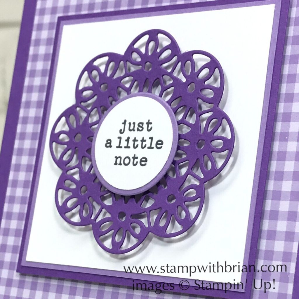 Check You Out, Doily Wishes Dies, Stampin' Up!, Brian King