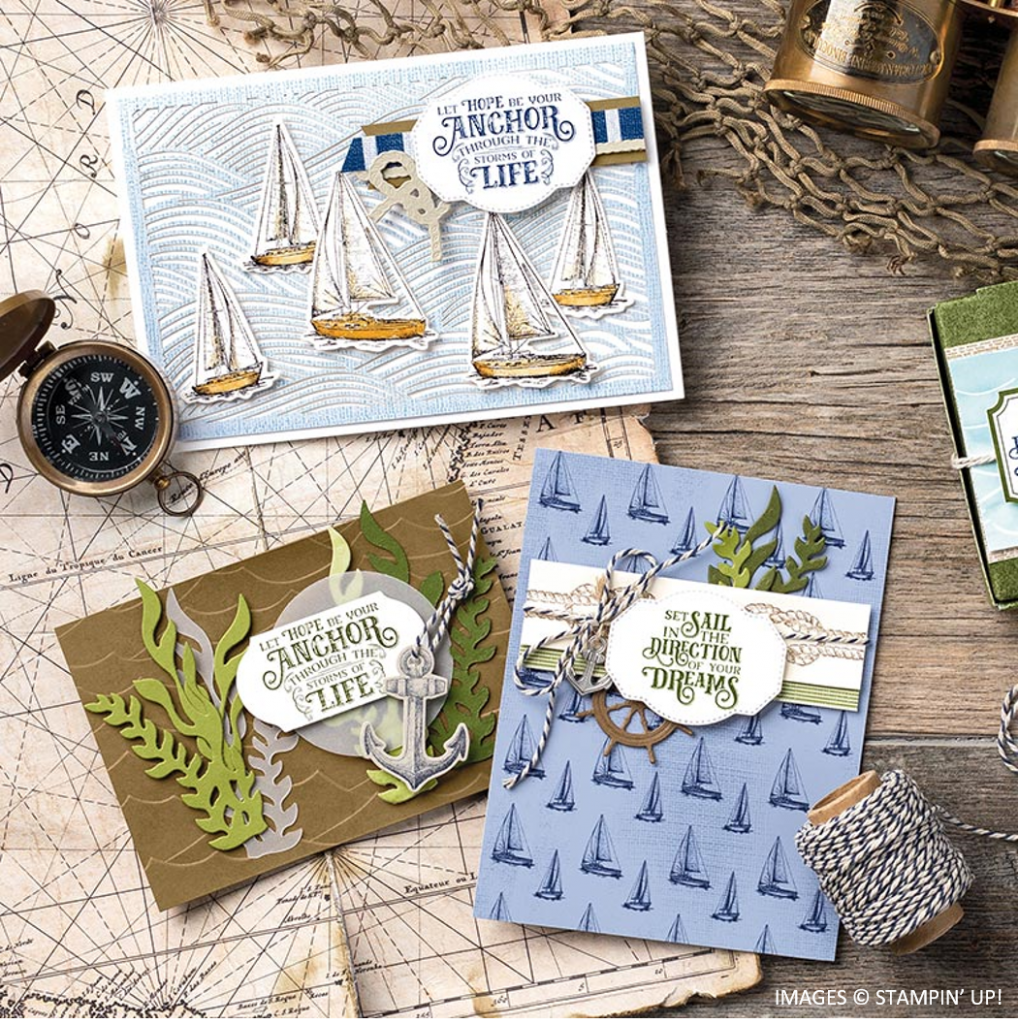 Come Sail Away, Stampin' Up!