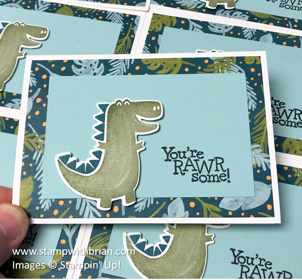 Dino Days Bundle, Dinoroar Designer Series Paper, Stampin' Up!, Brian King