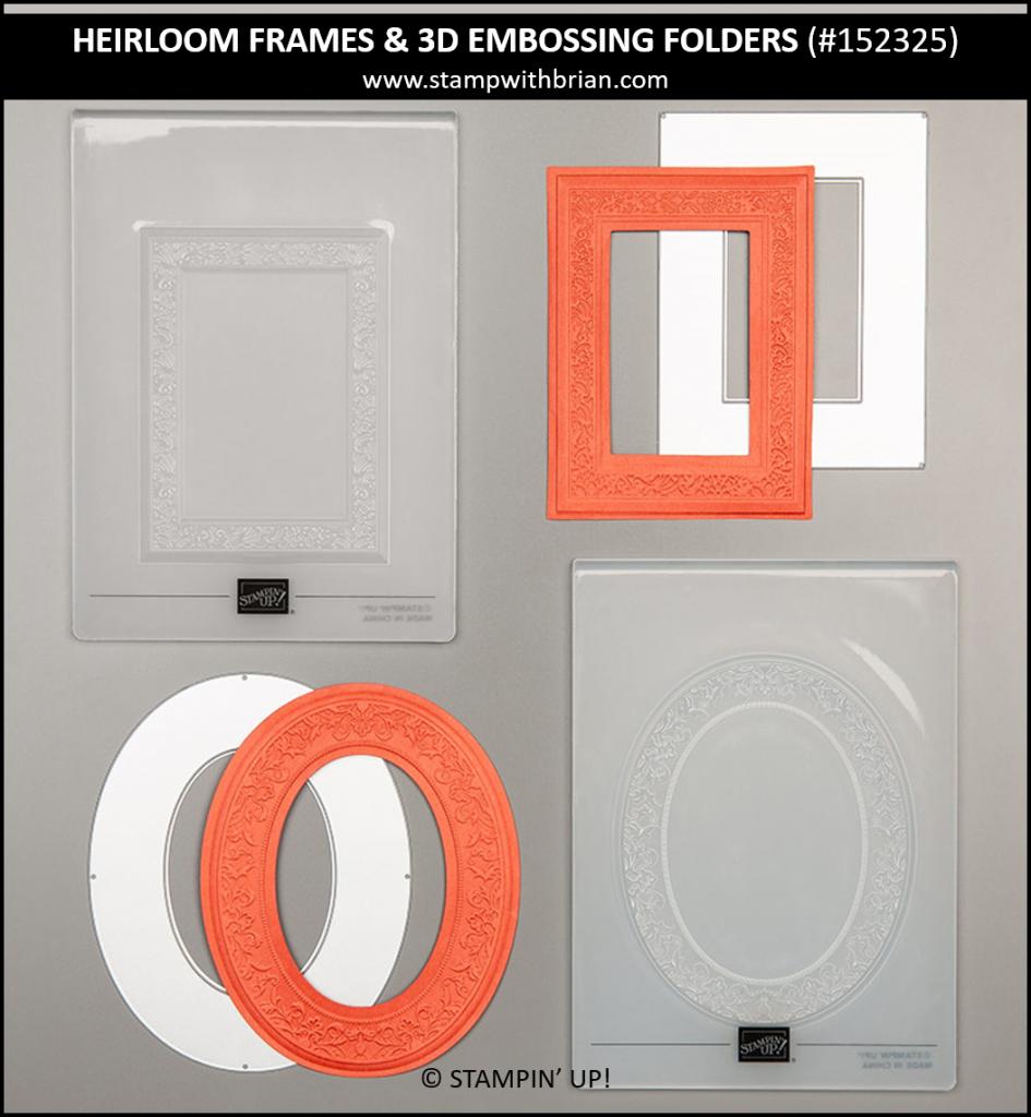 Heirloom Frames Dies and 3D Embossing Folders, Stampin' Up!, 152325