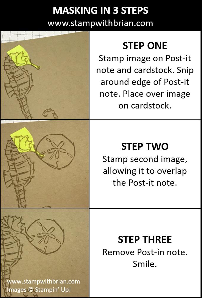 Masking in Three Steps, Stampin' Up!, Brian King