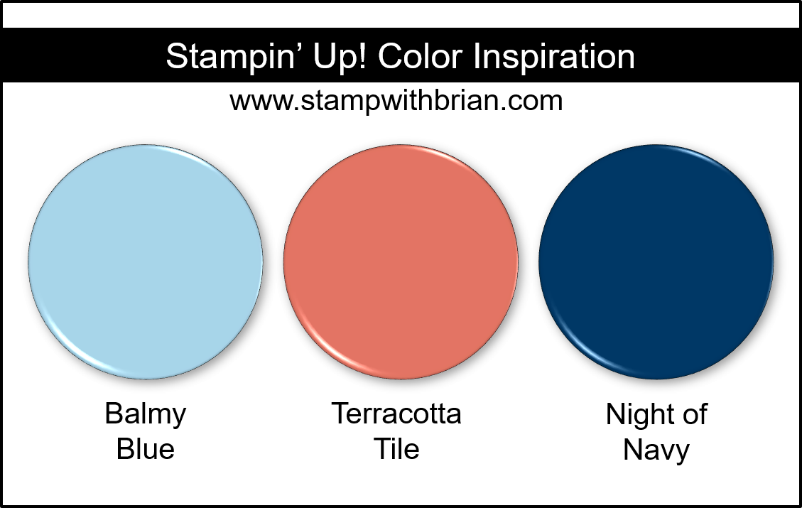 Stampin' Up! Color Inspiration - Balmy Blue, Terracotta Tile, Night of Navy