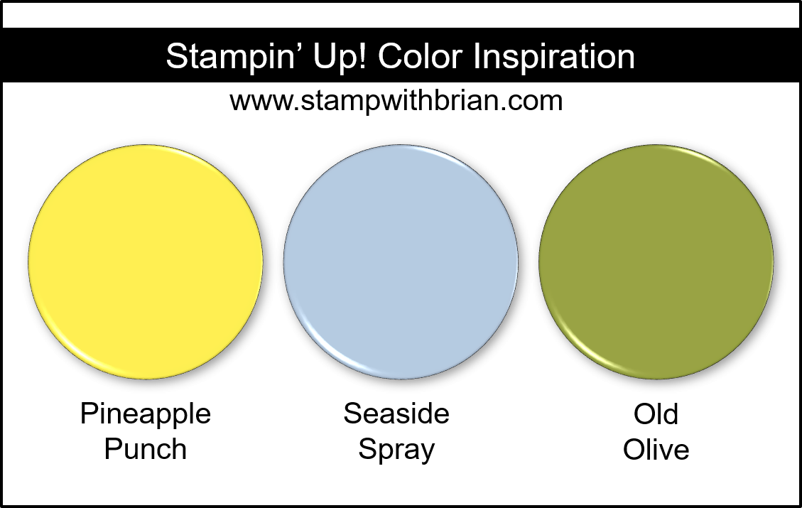 Stampin' Up! Color Inspiration - Pineapple Punch, Seaside Spray, Old Olive