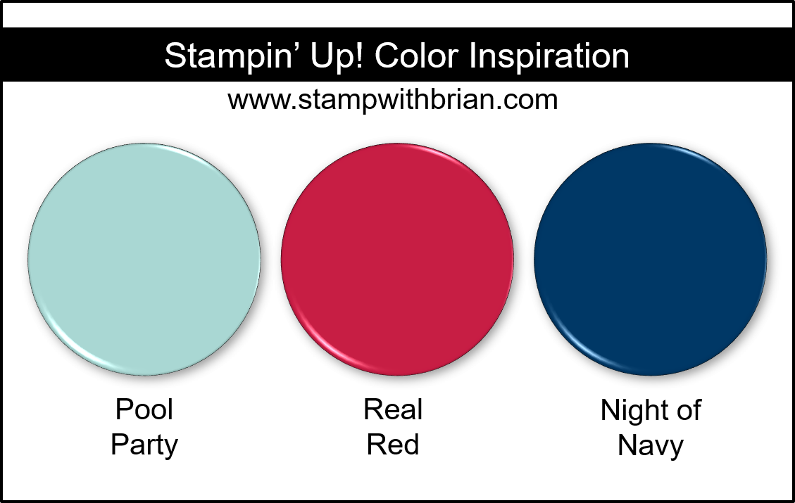 Stampin' Up! Color Inspiration - Pool Party, Real Red, Night of Navy