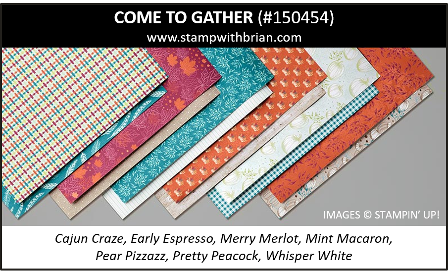Come to Gather Designer Series Paper, Stampin' Up! 2019 Holiday Catalog, 150454