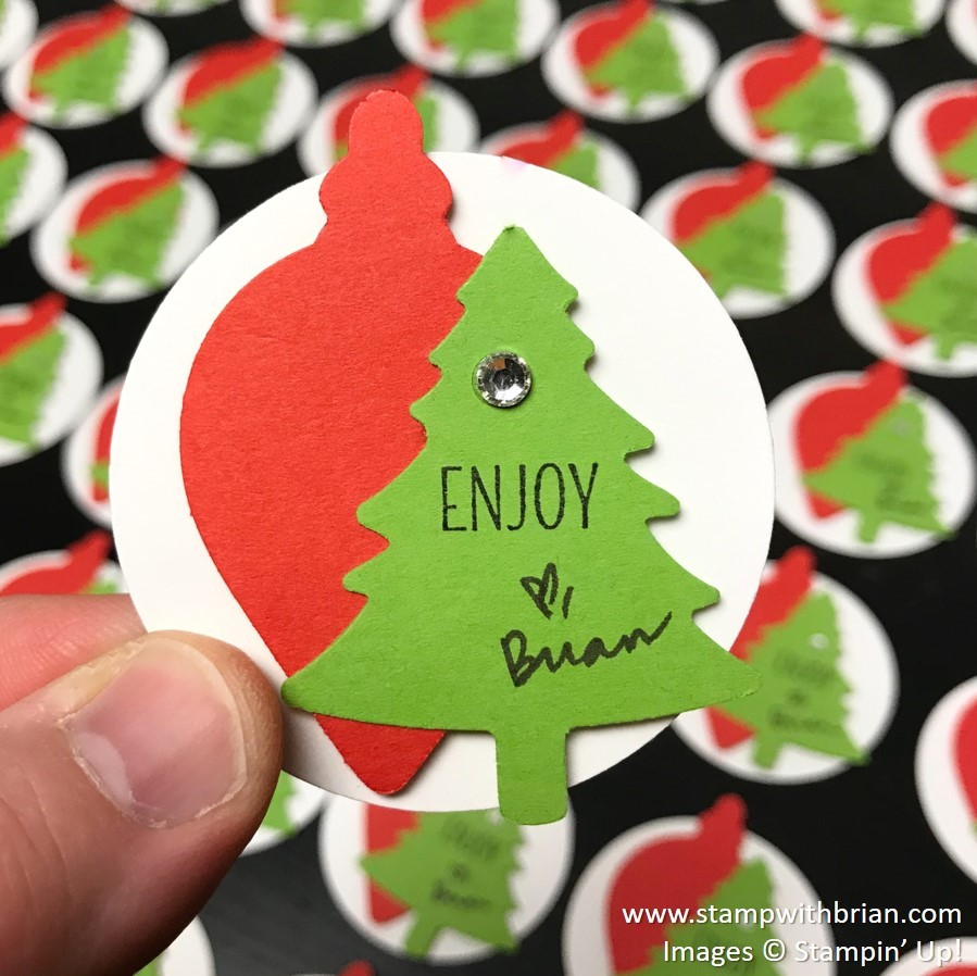 Gleaming Ornaments Punch Pack, Pine Tree Punch, Country Home, Stampin' Up!, Brian King, Christmas Tag