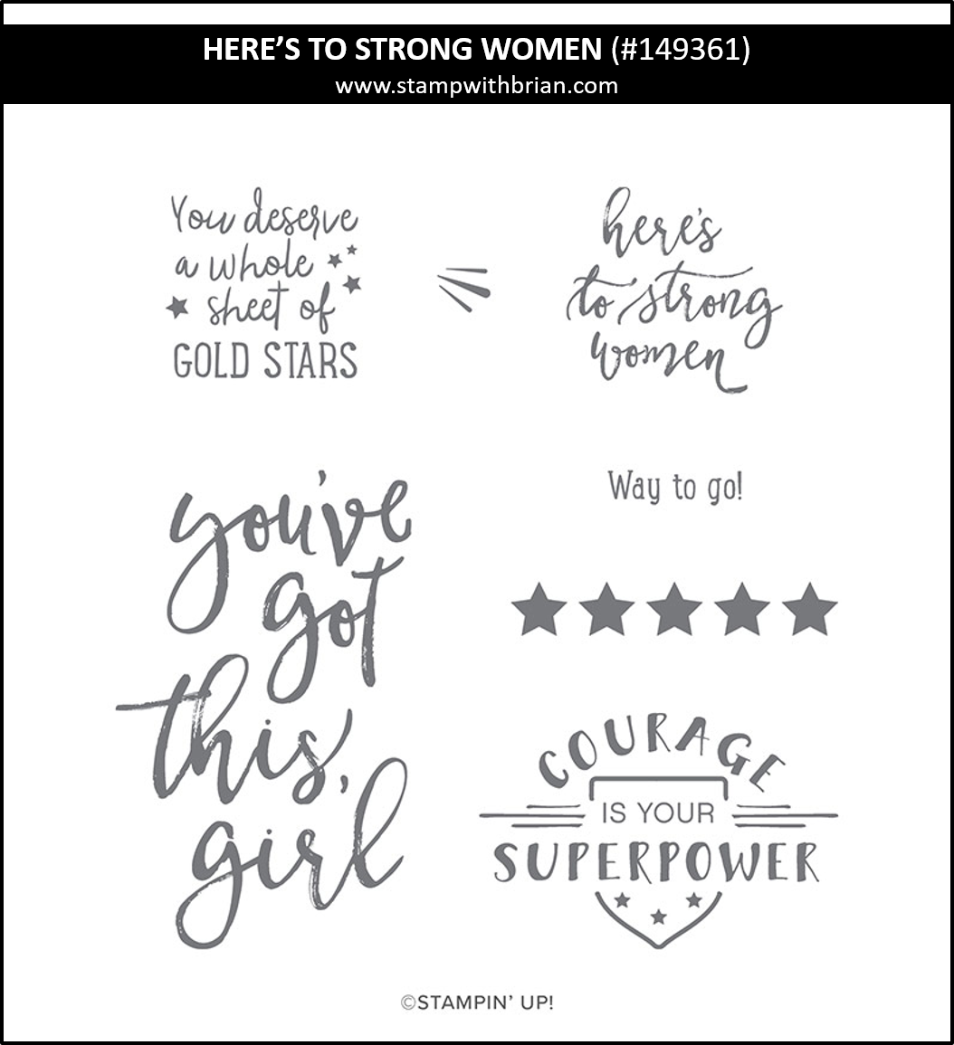 Here's to Strong Women, Stampin' Up! 149361