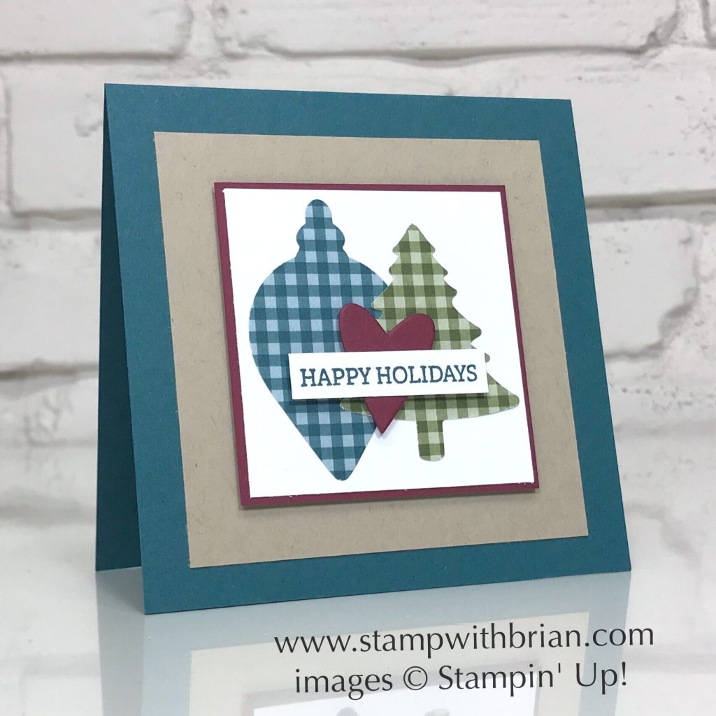 Itty Bitty Christmas, Gleaming Ornaments Punch Pack, Pine Tree Punch, Stampin' Up!, Brian King, Christmas card